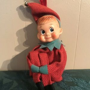Vintage INARCO Christmas Knee Hugger Elf Japan